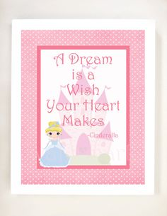 Printable 8x10  A Dream is a Wish Your by FoxyCouturePaperCuts, $5.00