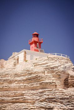 #lighthouse at Phare de la Madonetta, Corsica http://www.flickr.com/photos/bazadusud/7725472844/in/pool-lighthouselovers/