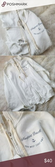 Newport Beach Zip Up Hoodie Jacket No flaws Never worn Super soft and warm Oversized fit Will fit between XS-L Brandy Melville Jackets & Coats