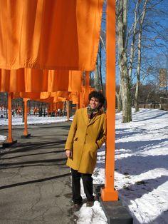 Christo, Central Park, 2005, #nyc #ny #christo #american #orange #visit #ContemporaryArt #snow #newyorkcity #landart #art #land