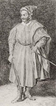 Goya y Lucientes, Francisco de: Retrato de Pernía, llamado Barbaroja, después de Velázquez