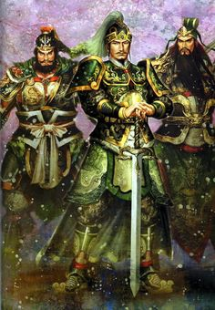 (From left to right) Zhang Fei, Liu Bei, and Guan Yu are the three great warriors of the Shu Han Dynasty from the  historical Chinese novel Romance of the Three Kingdoms.