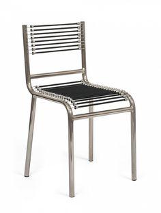 René Herbst, chaise en acier tubulaire & sandow, 1929, musée des Arts Décoratifs, Paris.