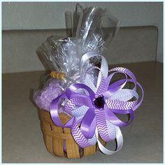 Lavender Boutique Basket Includes: 3oz Lavender Body Lotion, 3oz Lavender Bath Salts, 1 Lavender Bath Bomb $7.00