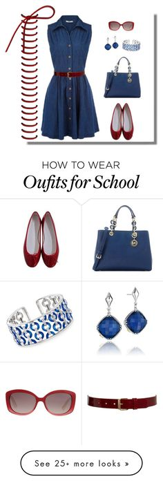 """""""Untitled #895"""" by gallant81 on Polyvore featuring Black & Brown London, Maybe-Baby, Michael Kors, Christian Dior, Tacori and Belle Etoile"""