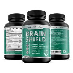 Whole Nature Nootropics Brain Supplement: Brain Shield Nootropic Supplements with Ginkgo Biloba, Alpha GPC and Bacopa Monnieri for Anxiety and Stress Relief - Boost Focus, Energy, Memory - 30 Capsules Activated Charcoal Capsules, Health Benefits, Health Tips, Brain Supplements, Release Stress, Stress Relief, Health And Beauty, Zeus Jupiter, Anxiety