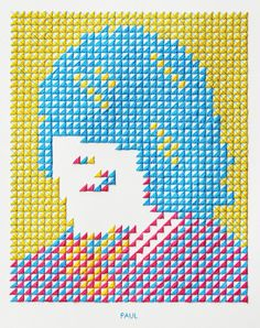 Knitted Wall - Evelin Kasikov – CMYK embroidery and Typographic Design – London