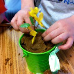 Make Playdough Dirt!