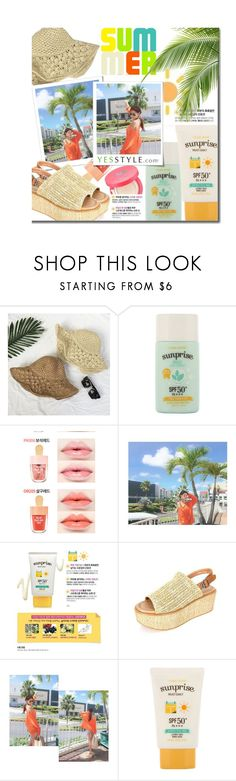 """YesStyle - 10% off coupon"" by justkejti ❤ liked on Polyvore featuring beauty, Etude House, DaBaGirl, Summer, Beauty and yesstyle"