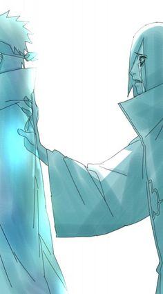 Image in Saddest Naruto Moments 💔😭 collection by cutae Awh :'( Kakashi Hatake, Nagato Uzumaki, Konan, Madara Uchiha, Naruto Shippuden Anime, Anime Naruto, Sasunaru, Akatsuki, Wallpapers Naruto