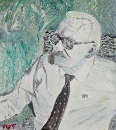 Wojciech Tut Chechliński, Ojciec, olej na płótnie, 73 x 65 cm, 2009 r, sygnowany (kat. 042)