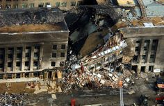 A view of the collapse of the Pentagon after being hit by American Airlines flight 77. We Will Never Forget.......