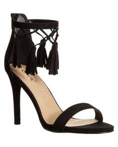 f7e16b746f0c Style Watcher Suede Tassel Heels. Online Shopping CanadaTassel HeelsDress  SandalsAnkle Strap SandalsShoes OutletStiletto ...