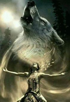 Native American Wolf, Native American Tattoos, Native American Paintings, Native American Pictures, Native American Wisdom, Native American Beauty, American Indian Art, American Indians, Tattoo Indien