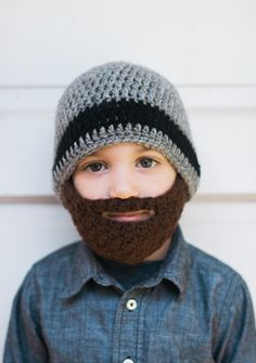 1bd27d04693 Crochet Beard Hat with detachable beard by TheresasCrochetShop Baby Beard  Hat