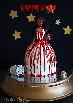 Carrie: A Halloween Dolly Varden Cake From The Dark Side {& Video}!