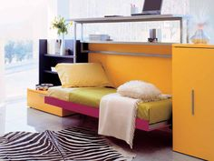 great storage idea for a girl's room