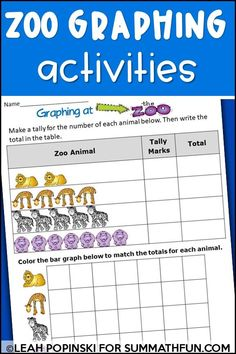 Ready to teach your kids about BAR GRAPHS and PICTURE GRAPHS? Would you like to do it with NO PREP? This pack is full of fun and engaging graphing activities in several different varieties for students. It includes activities great for whole group, small group, and centers. (It also works great for older kids during intervention time). Each graph includes rigorous questions. An opportunity to collect information and create a class graph is also included. Graphing Worksheets, Graphing Activities, Math Challenge, 2nd Grade Teacher, Bar Graphs, Math Workshop, Elementary Math, Math Classroom, Math Resources