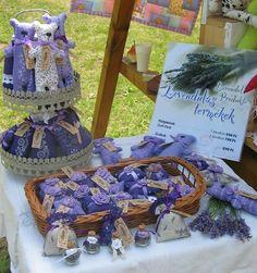 lavender filled handmade products at the Tihanyi Lavender Fest - Tihany, Lake Balaton, HUNGARY