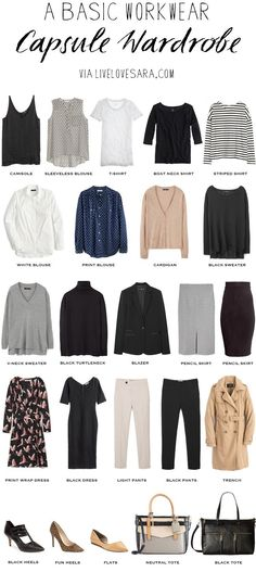 I have received several requests for a work capsule wardrobe over the last few months. Since my own personal wardrobe is quite casual it isn& very inspirational if you have a job that requires a level of professional dress on a day to day basis. Professional Wardrobe, Professional Dresses, Business Professional, Young Professional, Turtleneck And Blazer, Black Cardigan, Black Pants, Blouse H&m, Sleeveless Blouse