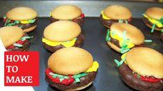 How To Make Mini Hamburger Cookies https://youtu.be/mtxLI7InqKw You can find the Mini Hamburger Cookies Recipe http://www.sixsistersstuff.com/2012/05/mini-hamburger-cookies.html