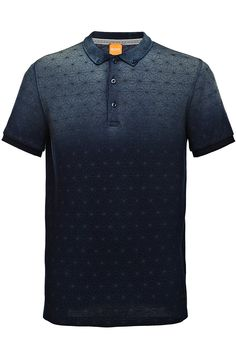 Cotton polo shirt with a graphic star print: 'Pachouly'