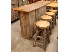 Bar with 4 29 Inch Stools