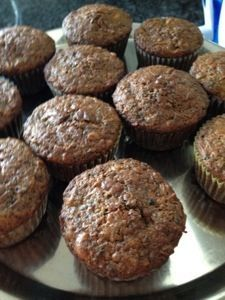 Spent grain apple muffins. Now I know what to do with Chris's spent grain.