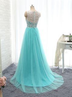 Aliexpress.com: Compre Vestido de festa azul andar de comprimento A linha Prom Vestido vestidos de confiança vestido nina fornecedores em SuZhou Ajax Wedding Dress