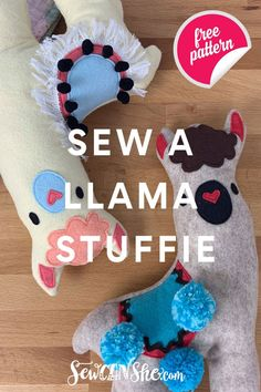 How to Sew a Cute Llama Stuffie - free sewing pattern — SewCanShe Easy Yarn Crafts, Fabric Crafts, Sewing Crafts, Sewing Projects, Diy Crafts, Sewing Patterns Free, Free Sewing, Quilt Patterns, Free Pattern