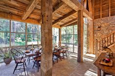 Twin Creeks - rustic - dining room - other metro - by JLF & Associates, Inc.