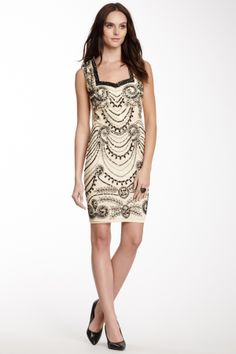 Such eye-catching embellishment. JLS Cutout Sequin Dress