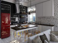 Zuhause, Smeg Kühlschrank, Retro Kühlschrank, Tafel Wände, Kreidetafeln,  Kreide Malen, Zuhause, Möbel, Gärten
