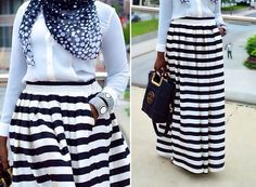 STRIPED BALL GOWN MAXI SKIRT  $36.99
