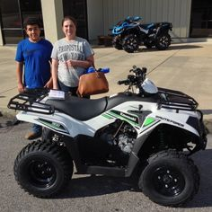 Thanks to Isaiah and Samantha Warren from Mt. Olive MS for getting a 2016 Kawasaki Brute Force 300 at Hattiesburg Cycles