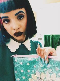 blue, cry baby, cute, doll, green, makeup, melanie martinez, pastel, photoshop