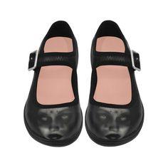 child vampire Virgo Instep Deep Mouth Shoes #evil #eyes #gothic #horror #demon #monster #rockabilly #terror #creepy