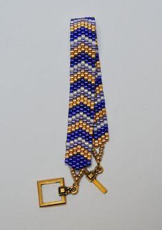 Handmade Seed Bead Peyote Stitched Bracelet in by LittleDJewelry
