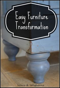 Quickly and easily transform a piece of furniture by adding some height with legs.  Even people with limited DIY skills can do this!