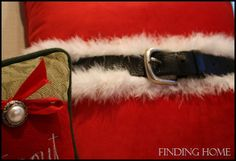 Ho, Ho, Ho, A Santa Pillow - Finding Home