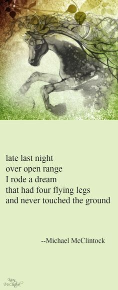 I actually did! I'm reading Outlander and imagined myself on horseback. Im not telling, if a Scottish man in a kilt was with me. Lol :) Tanka poem: late last night -- by Michael McClintock.