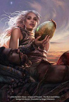 Daenerys and Khal Drogo by Magali Villeneuve
