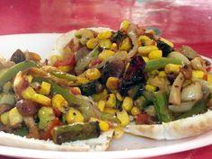 Vegspiration - Blog de inspiración vegana: Pan pita con verduras salteadas