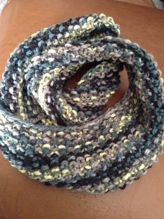 Infinity scarf and fingerless mitten set on Etsy, $55.00