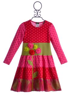 ZaZa Couture Girls Pink Flower Dress $54.00