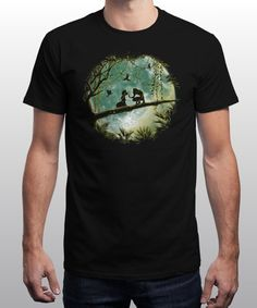 """""""Love in the Wild"""" is today's £8/€10/$12 tee for 24 hours only on www.Qwertee.com Pin this for a chance to win a FREE TEE this weekend. Follow us on pinterest.com/qwertee for a second! Thanks:)"""