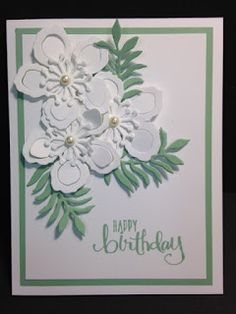 Botanical Builder, April 2016 Paper Pumpkin, Birthday Card, Stampin' Up!, Rubber Stamping, Handmade Cards