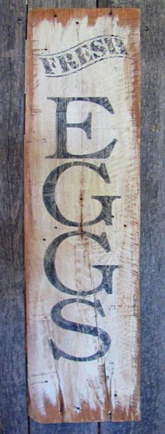 SOLD!  Rustic Fresh Eggs Sign by HeritageWorkshopCo on Etsy