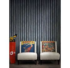 Industrial Loft Palmer Corrugated Steel Wallpaper - Iron