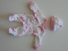 SWEET 2 PIECE SLEEPER SET  FOR 6-7 INCH OOAK BABY DOLL